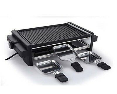 Black Commercial BBQ Smoke Free Non Stick Automatic Double-Deck Electric Grill *