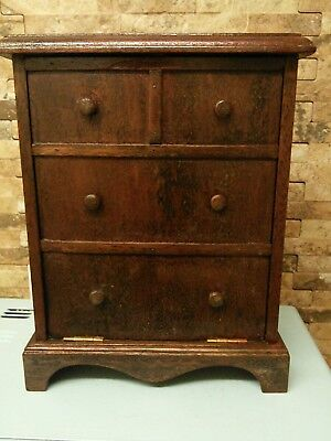 antique wooden chest of drawers box