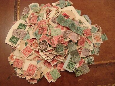 500g of GB charity mix of early off and on paper stamps.