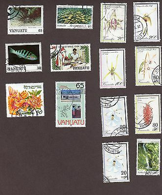 Vanatu stamps, 14 different, 26 stamps  (L922)