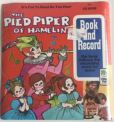 The Pied Piper of Hamelin Book & Recording Vinyl Read Along MINT SEALED