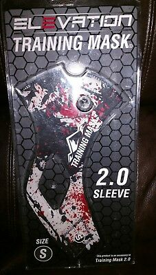 Elevation Training Mask 2.0(Red White & Black splatter design) Sleeve size small