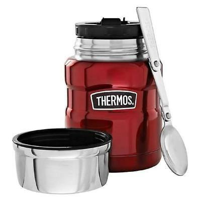 Thermos Stainless King Food Flask, 470 ml - Cranberry Red