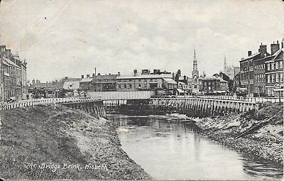 Old Postcard Of The Bridge Brink Wisbech