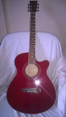 Tanglewood Dbt Sfce Tr Electro Acoustic Guitar With Buit In Tunner (Red)