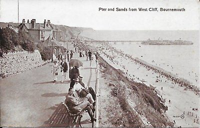 Old Postcard Of The Pier And Sands Bournemouth