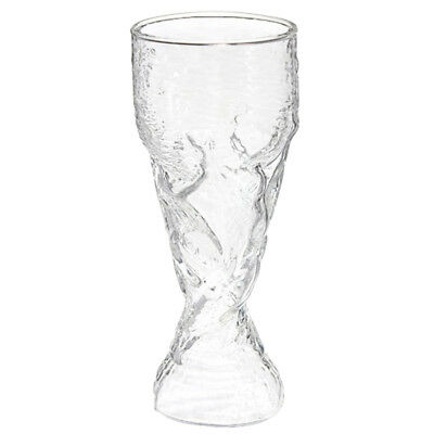 FP Clear 300ml Creative World Cup Design Glass Wine Beer Cup for Bar Party
