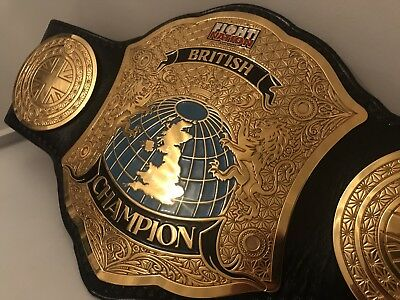 RING WORN British Championship crafted By WWE Beltmaker Leather Rebels