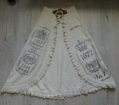 German Austrian Modern Long Linen Trachten Skirt  8
