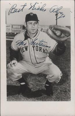 New York Giants Wes Westrum signed Baseball Postcard