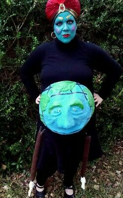GLOBEY pee-wee's playhouse show pregnancy maternity funny jambi herman costume !