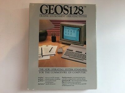 Commodore 64/128 GEOS Graphic Environment OS w/ QUANTUM LINK Online Service
