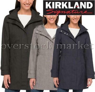 64de7b4e3 NEW WOMENS KIRKLAND Signature Trench Coat! Waterproof Detachable Hood!  Variety