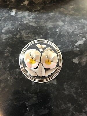 Stunning Large  Example Reverse Carved Brooch Very Pretty