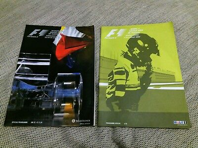 Formula One Programmes (2001, 2003) - Nurburgring, Magny-Cour