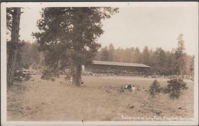 C1910 Baseball Stadium RPPC Postcard Flagstaff Arizona City Park