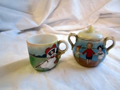 2 Pieces Of Vintage Charming Children's Pottery