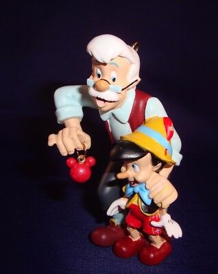 Disney Ornament Pinocchio & Gepetto Holding Mickey Mouse Ornament