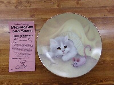 Hamilton Collection Bob Harrison Curious Kittens Plate Playing Cat And Mouse