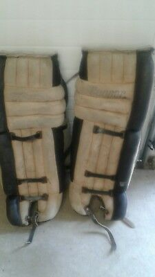 "Vintage Cooper GP58L 32"" Hockey Goalie Pads"