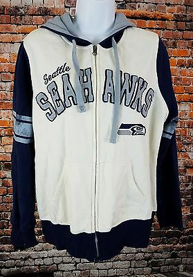 Womens Seahawks  Full Zip Hoodie Sz Large NFL Team Apparel FF