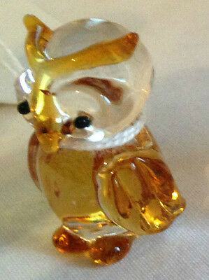 Brand New Hand-Made Glass Winged Owl In Choice Of Colours