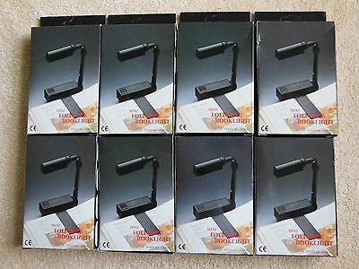 ** Joblot Of 8 Mini Foldable Book Light **new**
