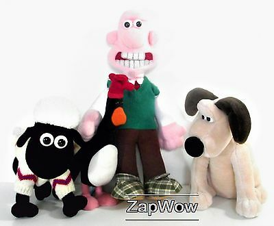 WALLACE GROMIT SHAUN FEATHERS 1989 Plush Talking Grand Day Out Aardman Toys 80s