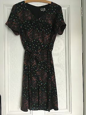 Beautiful Silk Print Hobbs Nw3 Tea Dress - Size 10