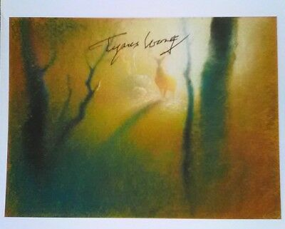 Disney's Bambi artist Tyrus Wong  authentically signed paper-card photo