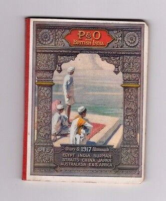 1917 P& O Almanack And Diary, Nice Little Pocket Book Full Of Useful Information