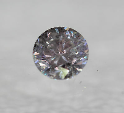 Certified 0.40 Carat H SI2 Round Brilliant Enhanced Natural Diamond 4.59mm 3VG