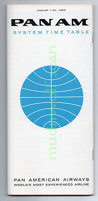 Pan American System Timetable August 1, 1966