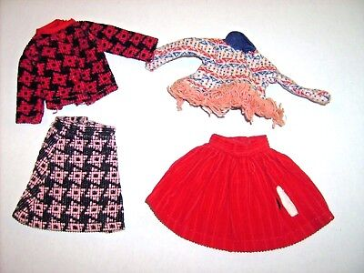 """Doll clothes 9"""" Cricket MIX LOT American Character Tressy sister 1965 outfits"""