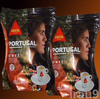 Delta Portugal Coffee Ground Roasted to Perfection Portuguese 2X250g intensity 8