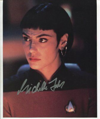star trek MICHELLE FORBES autograph HAND SIGNED 5560