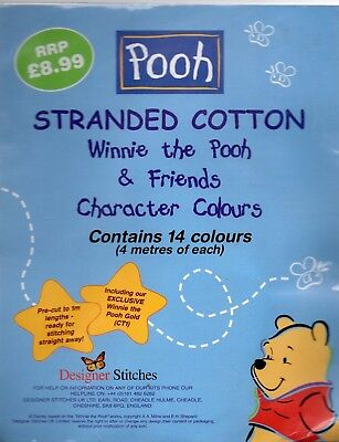 Winnie the Pooh & Friends  Character Colours Stranded Cotton - 14 Colours (l)