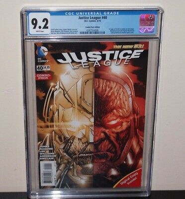 Justice League #40 Combo Pack Variant CGC 9.2 1st App Grail   Darkseid