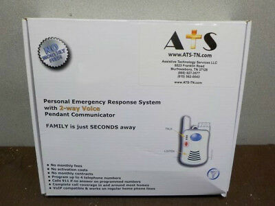 ATS Personal Emergency Response System w/ 2 way Voice Pendant *No Contract* ATS