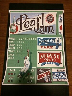 Pearl Jam Fenway the catch poster