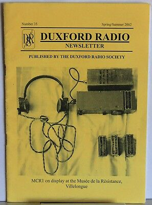 Duxford Radio Newsletter Spring 2002 - articles on Clandestine Radio & Serrate.