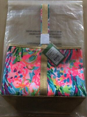 LILLY PULITZER Fan Sea Pants Wine Tote Caddy, Beverage bag  NWT