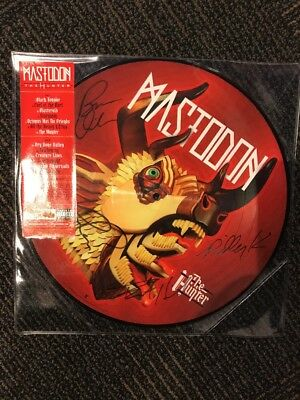 """MASTODON """"THE HUNTER"""" SIGNED PICTURE DISC VINYL RECORD NEW unplayed 12inch"""