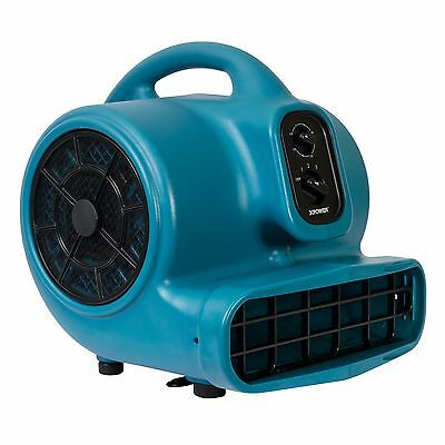 XPOWER X-430TF 2000 CFM Air Mover Carpet Floor Fan Cage Dryer w/ Timer, Filter