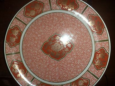 Nwot Fitz & Floyd Asian Plate Large Charger China Pottery Japan Gold Paint