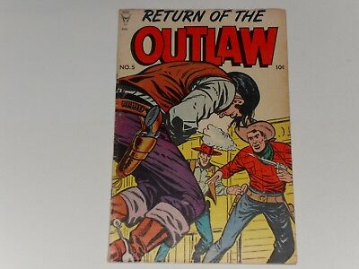 Return Of The Outlaw #5  1954 Toby Press Western Comic