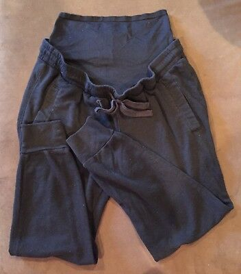 Old Navy Maternity Active Lounge Sweat Pants Full Belly Panel Comfy Size MEDIUM