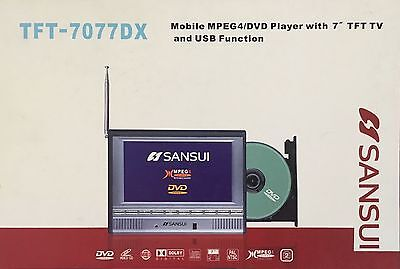 Sansui TFT-7077DX Portable DVD with TV and USB Function
