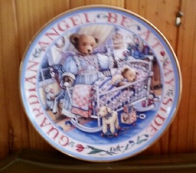 Franklin Mint Heirloom Teddy's Guardian Angel Royal Doulton Collectors Plate