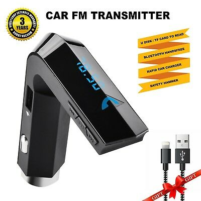 Car FM TransmitterBluetooth Hands-free Transmitter In-Car Universal Wireless ...